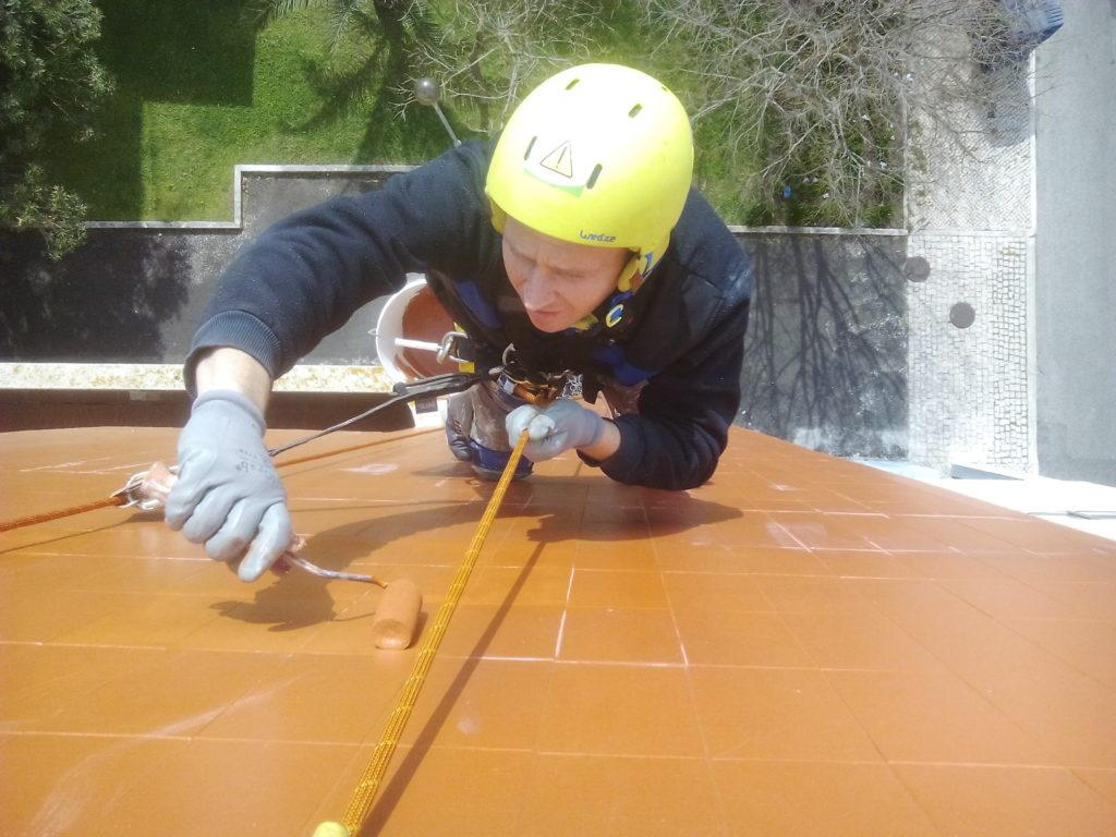 Impermeabilização em parede de forra cerâmica